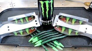 Let's Make MONSTER ENERGY Theme Fishing Lures + GIVEAWAY
