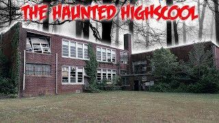 THE HAUNTED ABANDONED HIGH SCHOOL // SOMETHING LIVES INSIDE!