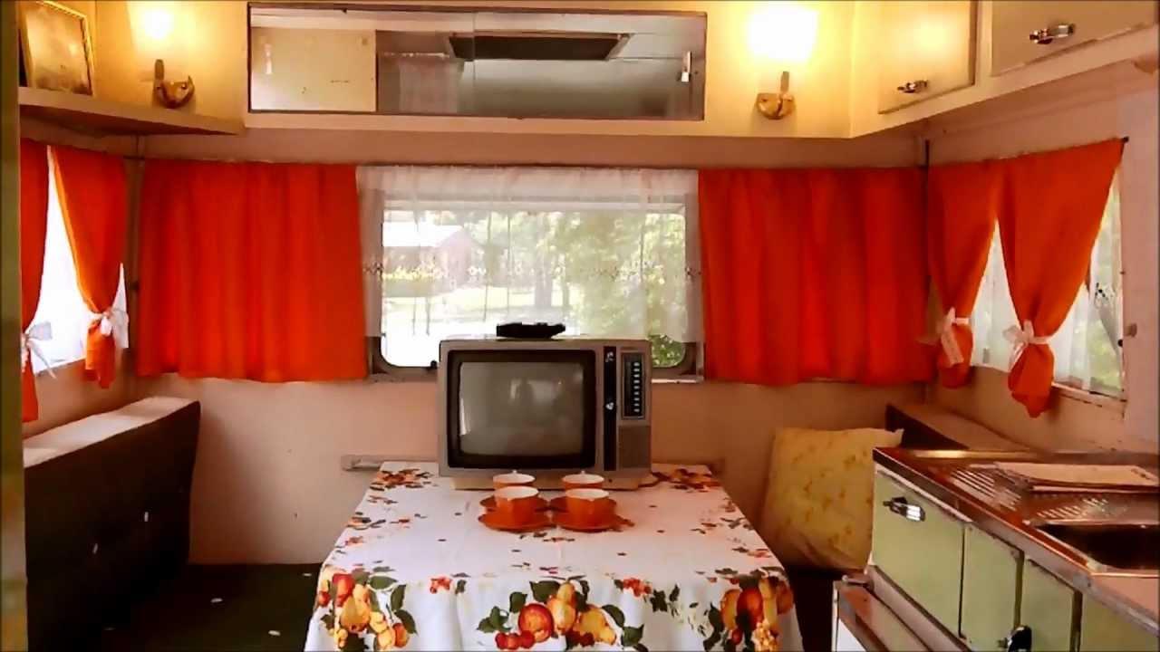 Carapark Voyager 15 Vintage Retro Caravan 1964 Orangewhite Curtains YouTube