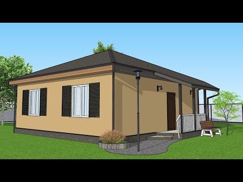 Проект Дома 8 на 8 , Планировка Дома 60 квадратов