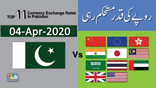 US Dollar Rate Today  | Forex  Exchange Rate| Top 11 Currencies Vs PKR | 04-04-2020 | FBTV Markets