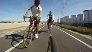 Road Cycling in California - Whittier to Long Beach - Bike Trail Loop - Go Pro HD