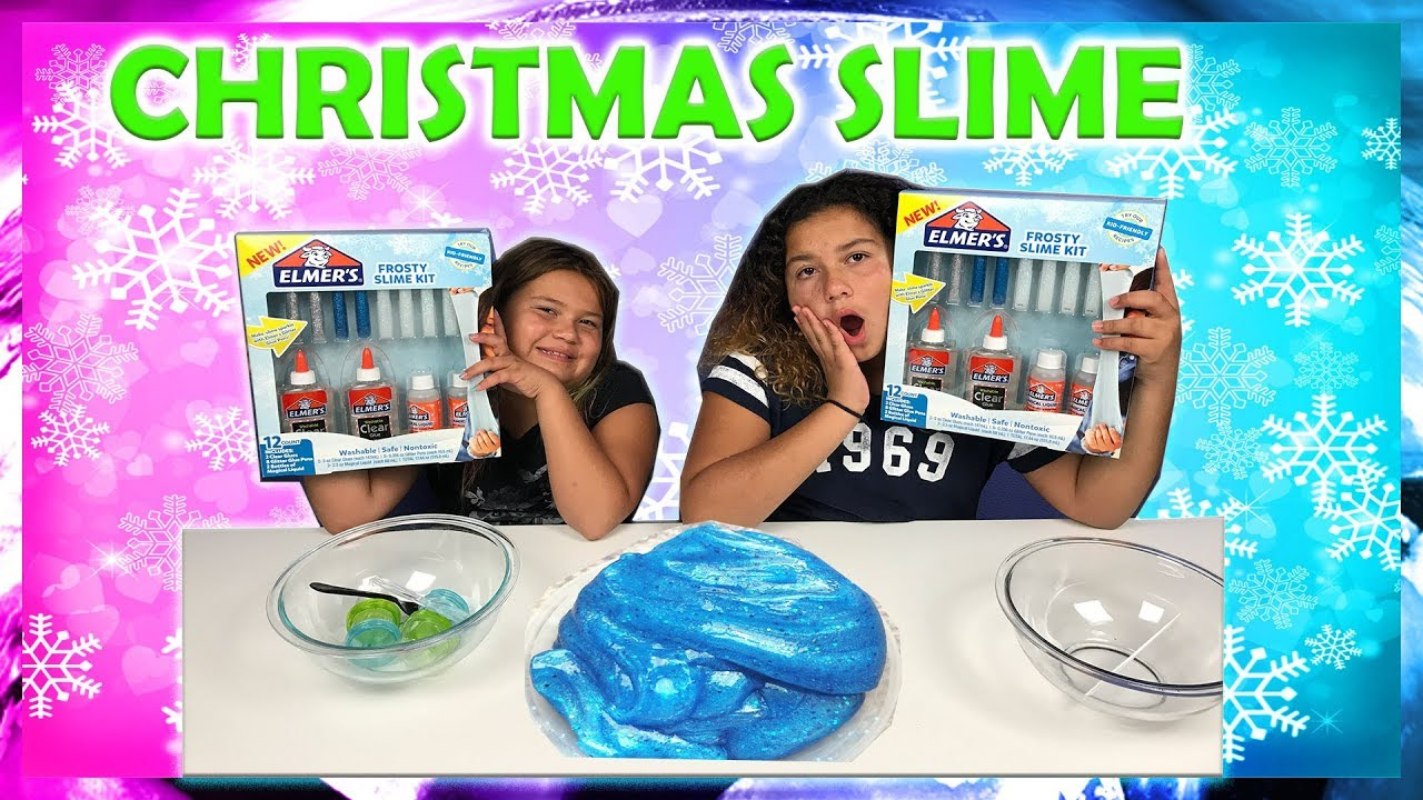 Slime Master Mary And Izzy: NEW ELMER'S FROSTY SLIME KIT