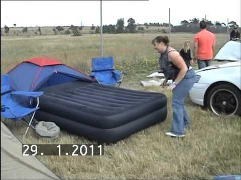 air mattress in tent & air mattress in tent - YouTube