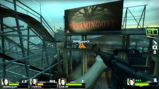 Left 4 Dead 2 Multiplayer Gameplay Dark Carnival + New weapon MP5 Update 2015 60 hz