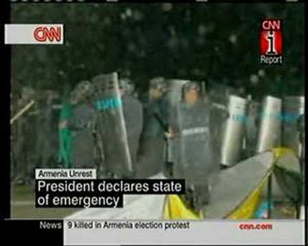 Yerevan 02 March 2008 CNN Report About Unrest In Armenia