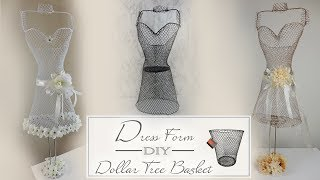 Dollar Tree Dress Form DIY