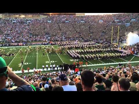 ND Texas Player Walk 9-5-15