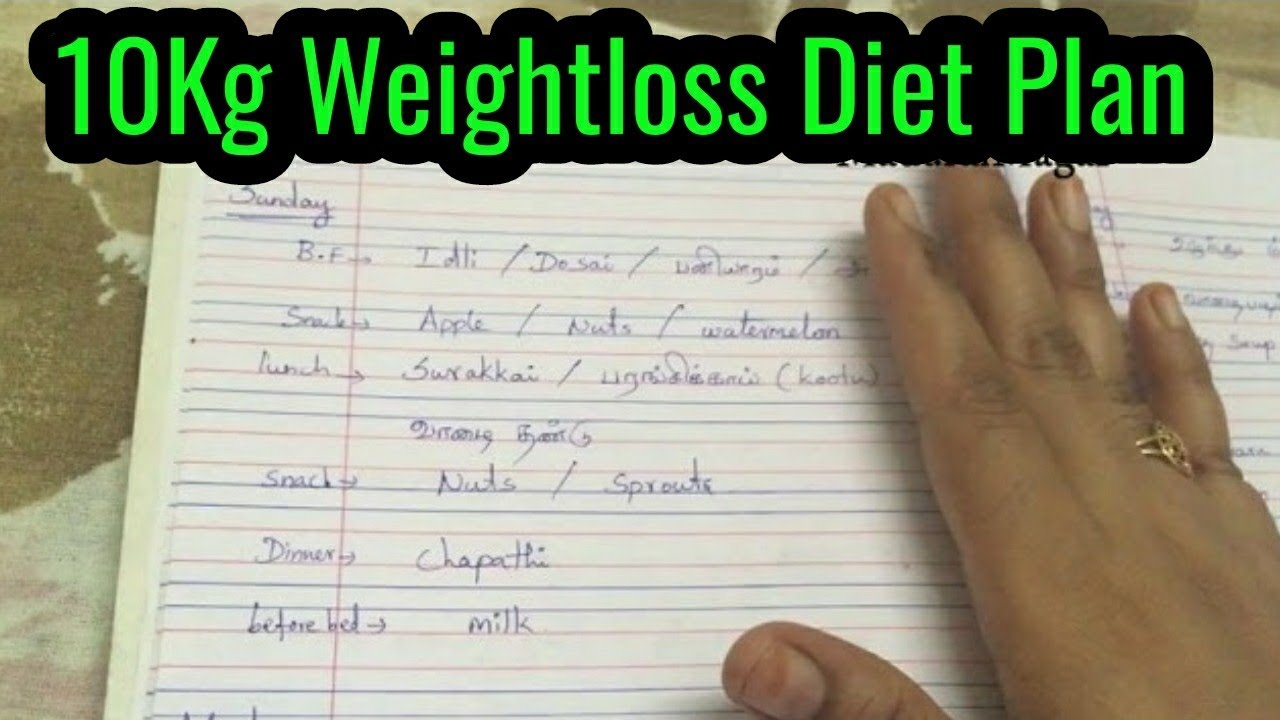 weight loss diet plan for women in tamil |