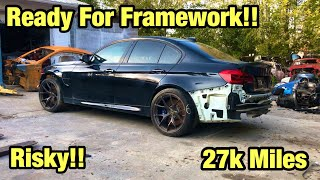 Rebuilding A Totaled Wrecked 2018 BMW M3 From Copart Not knowing the Miles And Risked It! 27K Miles