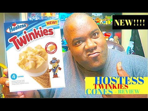 HOSTESS® Twinkies Ice Cream Cone Review!!!!!!!