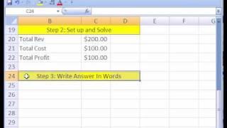 Excel Magic Trick #207: Business Math Word Problem Setup