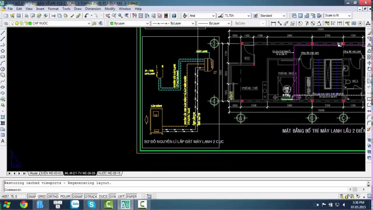 Giới thiệu bản vẽ điện nước  M&E