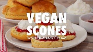 Vegan Scones With Jam And Cream - Loving It Vegan