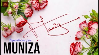 "How to Draw Signature like a Billionaire (For Alphabet ""M"") - Signature for Name 'Muniza'"
