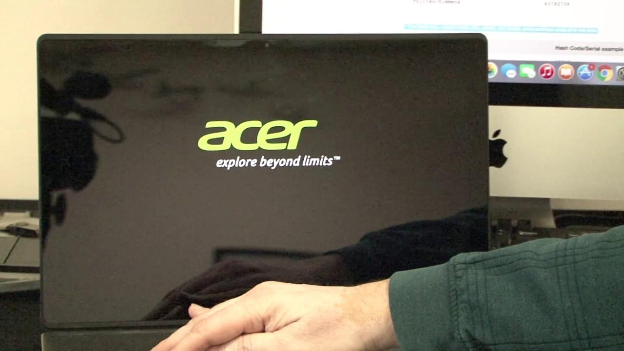 acer bios administrator password