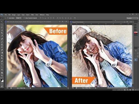 Quick Sketch Photoshop Action Tutorial | Photo Manipulation #PhotoshopTutorial thumbnail