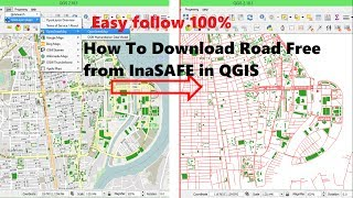 Download data free from inasafe | Download OSM Data to shapefile QGIS | Downloading OpenStreetMap