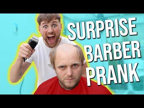 SURPRISE BARBER PRANK!!!!!