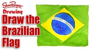 How to draw the Flag of Brazil