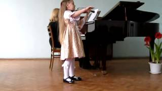 """Моцарт""""Аллегретто""""  Злата Оборок(6лет)"""