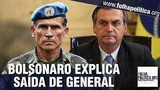Bolsonaro explica demissão do General Santos Cruz e responde sobre influência de Olavo de Carvalho