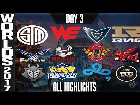 World Championship 2017 Highlights ALL GAMES Day 3 Groups - ALL Kills & Objectives Day 3 Worlds 2017