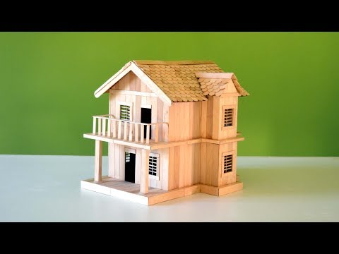 An Amazing Popsicle  Stick House | Easy Home Made Craft