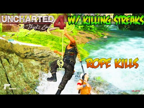 ROPE KILLS!!  #1 - UNCHARTED 4 MULTIPLAYER  ( Uncharted 4 - ROPE KILLS ARE SO AMAZING )