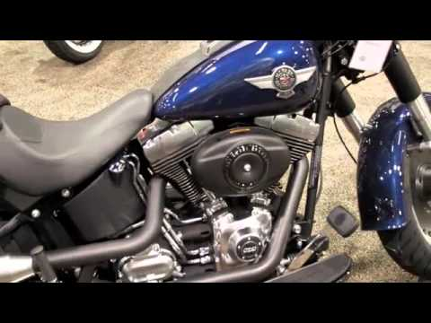 2012 FAT BOY LO FLSTFB IN BIG BLUE PEARL 103ci ENGINE HARLEY - DAVIDSON  FIRST LOOK 1ST