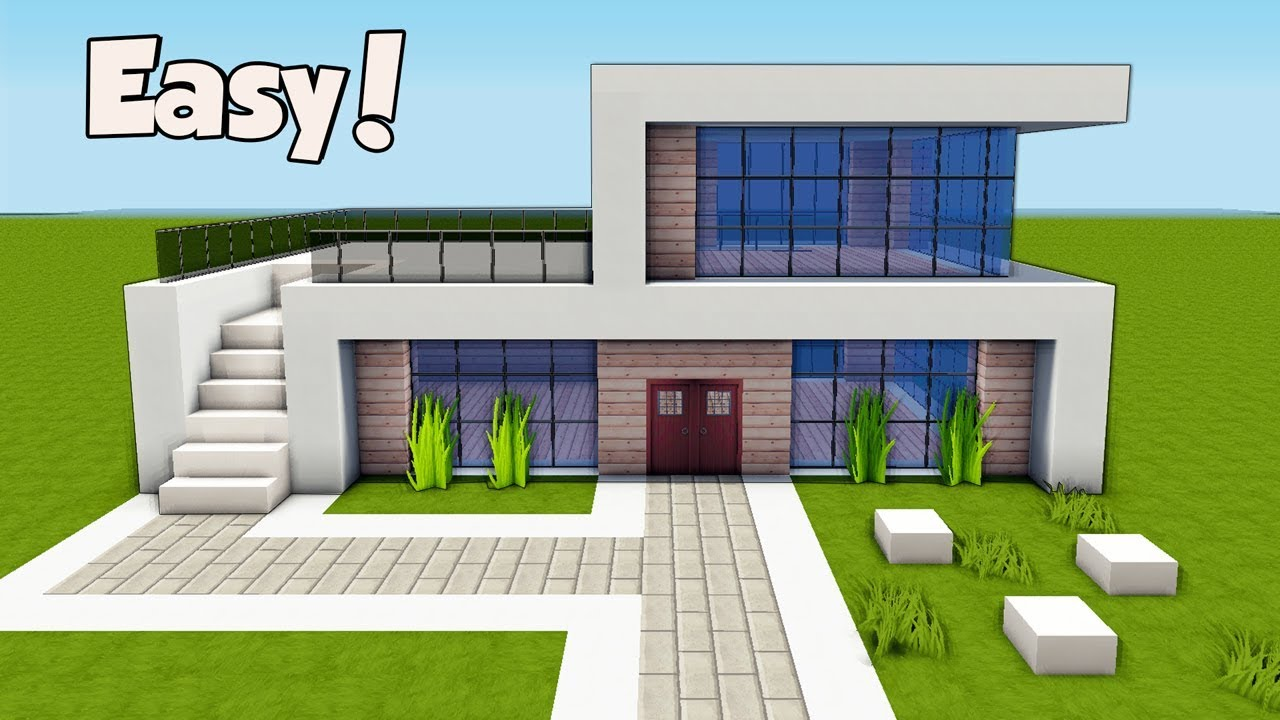 Simple Home Modern House Designs Pictures Very Simple: Minecraft: How To Build A Small & Easy Modern House