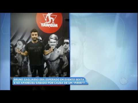 """Hora da Venenosa: Bruno Gagliasso se atrasa em evento por causa de um """"piriri"""""""