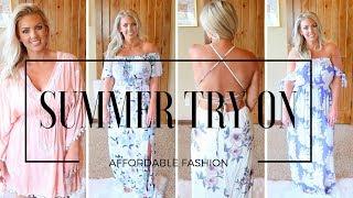 Summer TRY ON Haul | TJ Maxx, Fashion Nova, Thred Up & Marshalls