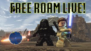LEGO Star Wars The Force Awakens FREE ROAM LIVE! Early Morning Edition