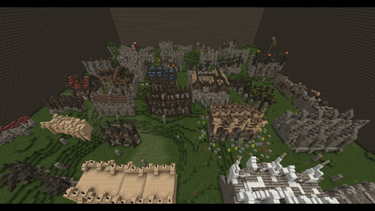 How To Build A Medieval Castle Wall In Minecraft