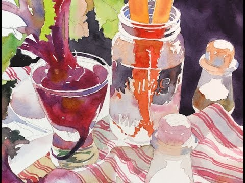 Watercolor Class Demonstration with Susan Avis Murphy: Still Life with Beets and Carrots Part 3