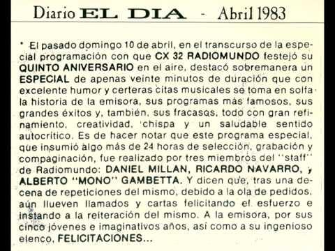 5to Aniversario CX32 RADIOMUNDO año 1983 - (Montevideo Uruguay)