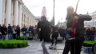 Питерская рок группа 7созвездий  и др .Концерт у Гостинки 14. 09.19