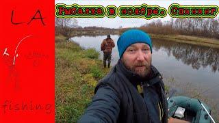 Рыбалка в ноябре Спиннинг на реке Щука на спиннинг Поклевки в кадре