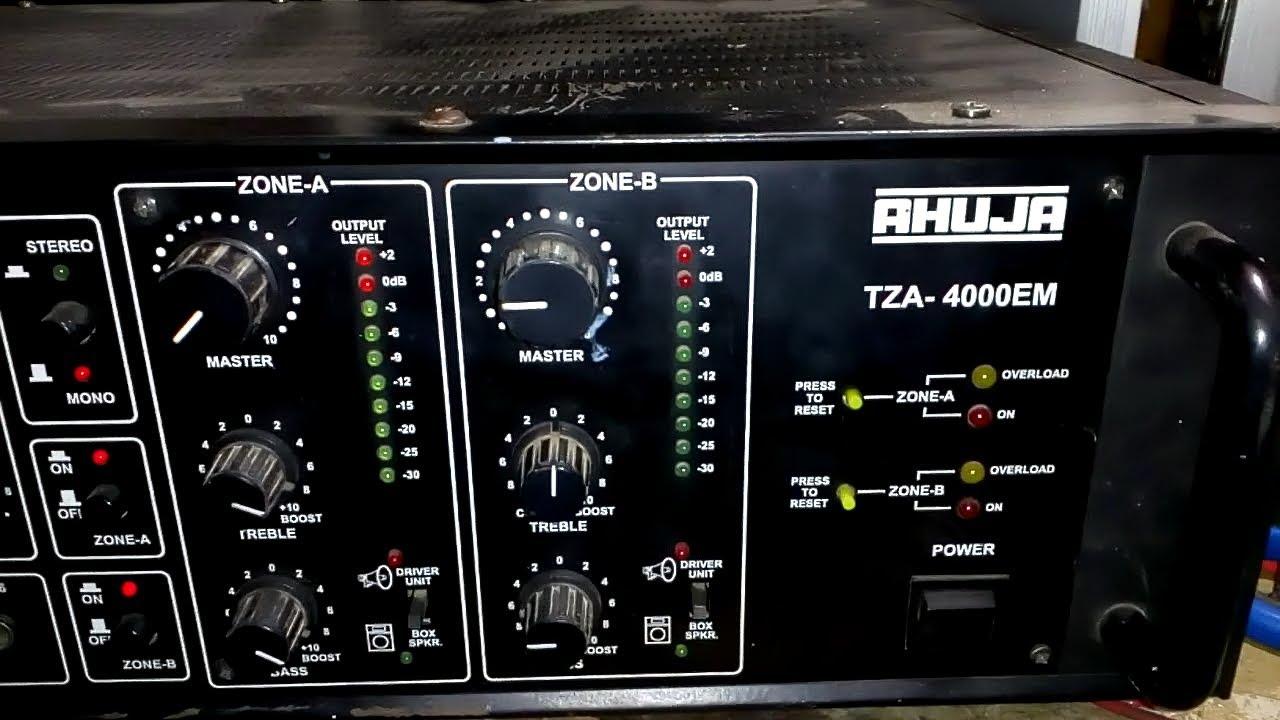Amplifier Repair Ahuja Tza 4000 Hindi Youtube
