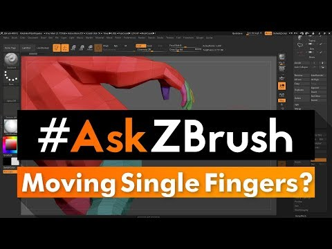 """#AskZBrush: """"Is there a way I can use the Move Brush to move a single finger?"""""""