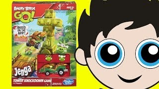 Angry Birds GO! Jenga TOWER KNOCKDOWN GAME! Preview by Kinder Playtime