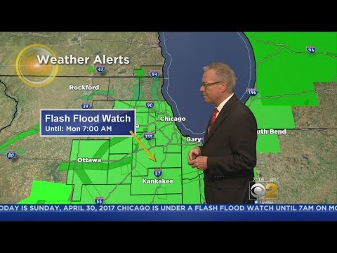 Flood Watch In Effect As Rains, Winds Continue To Hit Chicago