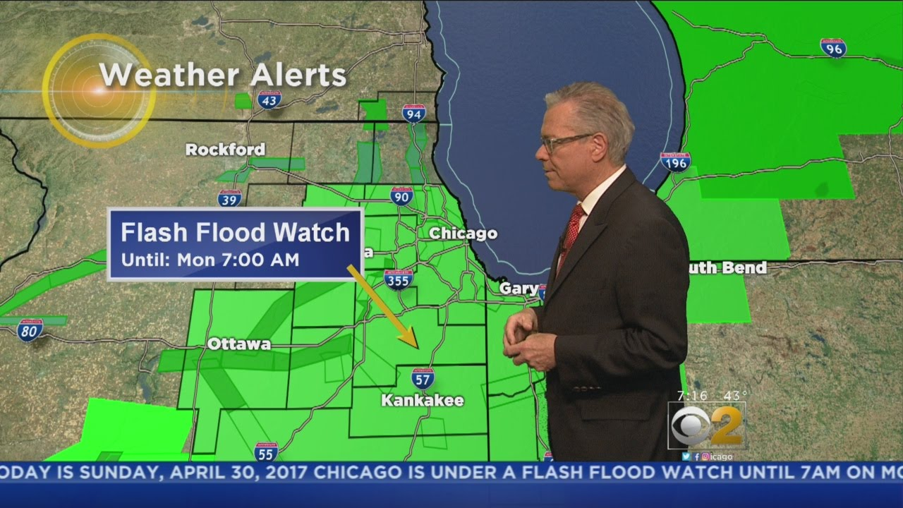 Chicago Weather: Flash Flood Warnings in effect for north suburbs