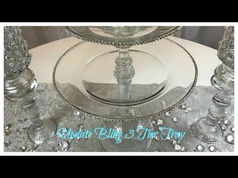 DIY DOLLAR TREE 3 TIER GLAM CUPCAKE STAND