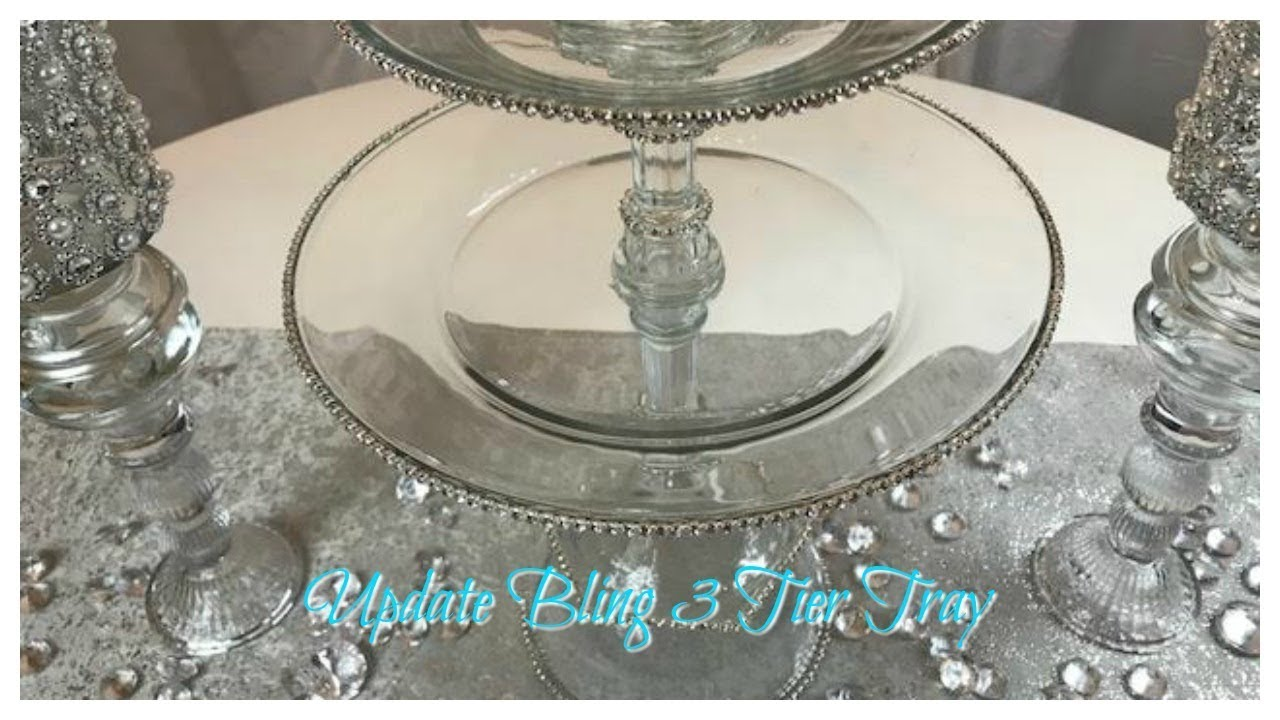 Diy Dollar Tree 3 Tier Glam Cupcake Stand Youtube