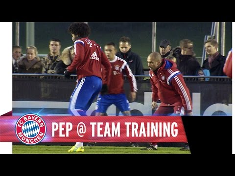 Bayern boss Pep Guardiola shows he's still got it playing a