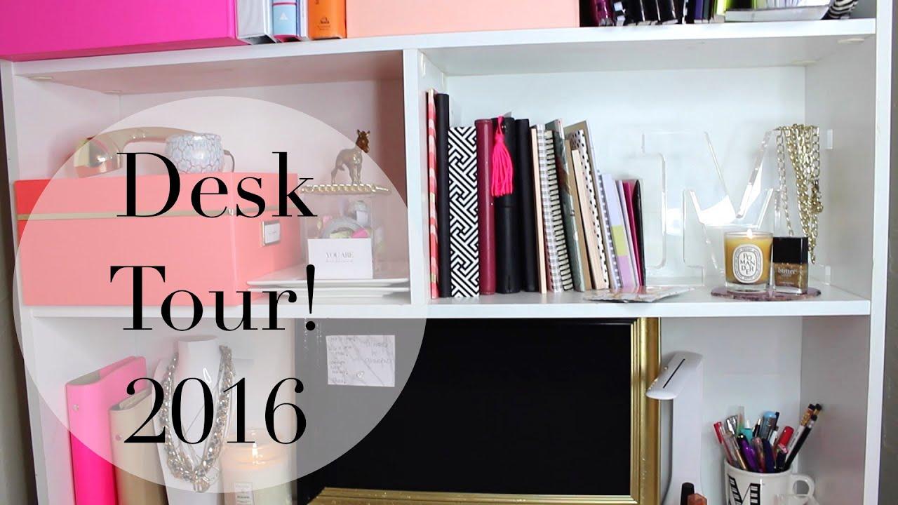 Desk Tour 2016 Home Office Organization Diy Accessories
