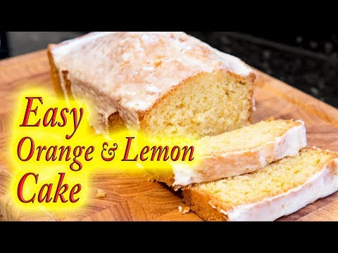 Orange and Lemon cake simple and easy