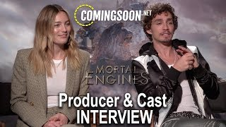 "Robert Sheenan, Leila George and Philippa Boyens Interview | ""Mortal Engines"""
